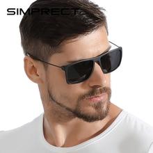 SIMPRECT TR90 Polarized Sunglasses Men 2020 TAC UV400 Anti-Glare Square