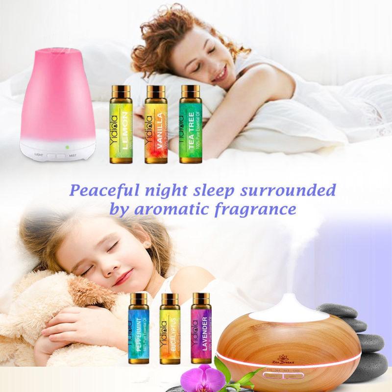 Yidiola 10ML Pure Essential Oil Lavender Orange Peppermint Lemongrass Frankincense Lemon Humidifier Diffuser Aromatherapy Oil(China)