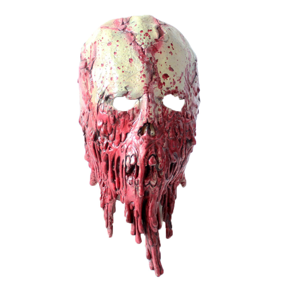 Halloween Masks Scary 2019 Cosplay Halloween Adult Zombie Mask Latex Bloody Scary Extremely Disgusting Full Face K923