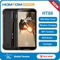 HOMTOM HT80 IP68 водонепроницаемый смартфон 4G LTE Android 10 5 5 дюймов 18:9 HD + MT6737 четырехъядерный NFC Беспроводной заряд SOS мобильный телефон