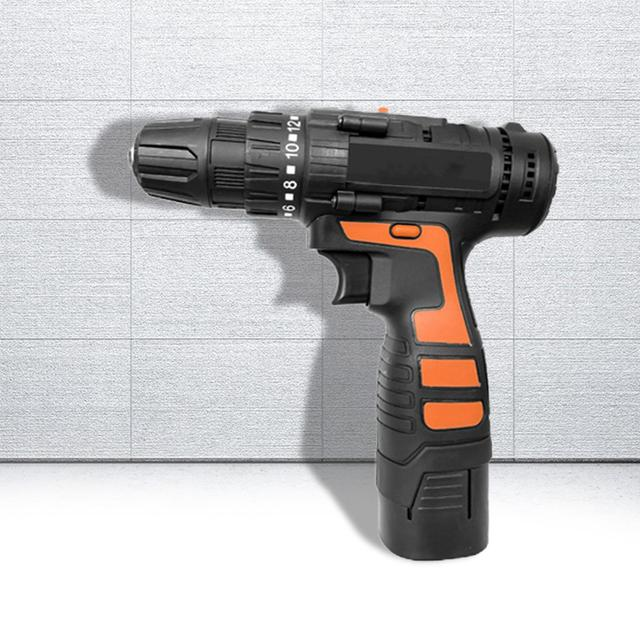 1500mAh 16.8v Multifunctional Household 1500mAh Electric Cordless Drill Engineering Hole Equipment Drill ABS Alloy