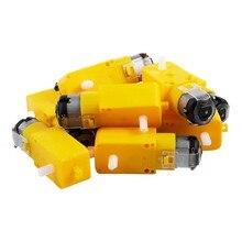 10 peça de carro inteligente tt motor lançamento inteligente motor da engrenagem do carro para arduino