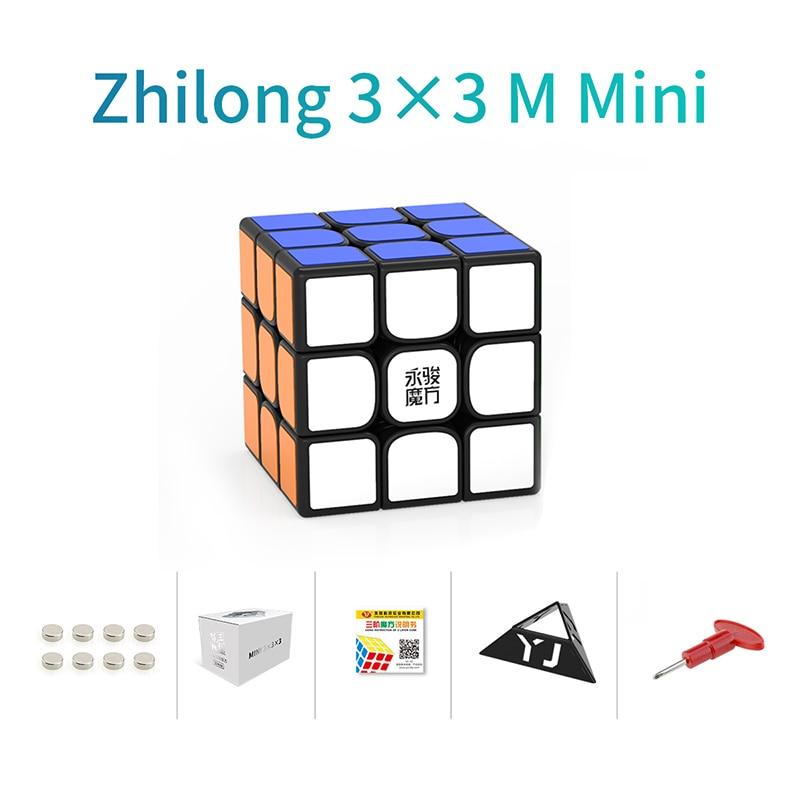 Original YJ Zhilong Mini 3x3 M 4x4 M 5x5 M Magnetic Speed Cubes Small Size YongJun Zhilong Magico Cube Puzzle Toys Magnetic Cube 18