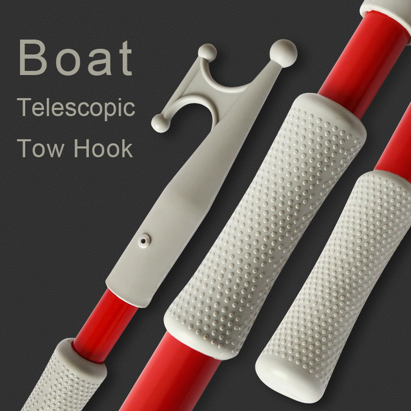 New 1PC Aluminum Alloy Telescopic Tow Hook Support Rod Boat Hook Boat Part Boat Accessories Marine