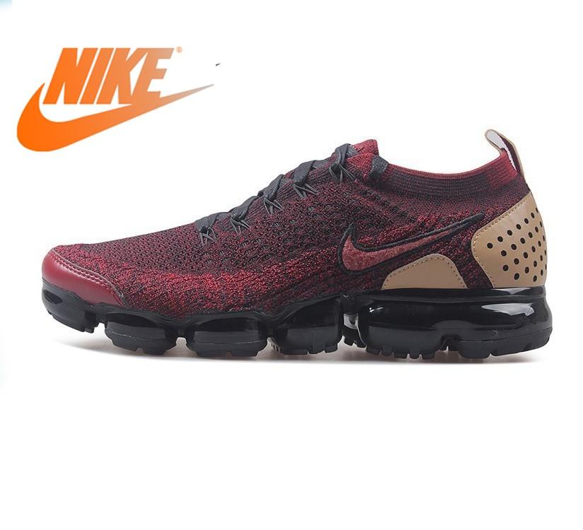 Original autêntico nike ar vapormax flyknit tênis de corrida dos homens respirável tendência sapatos esportivos novo massagem wear 942842