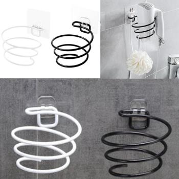 цены 1PC Iron Bathroom Wall Shelf Wall-mounted Hair Dryer Rack Storage Hairdryer Support Holder Spiral Stand Black/White 2019