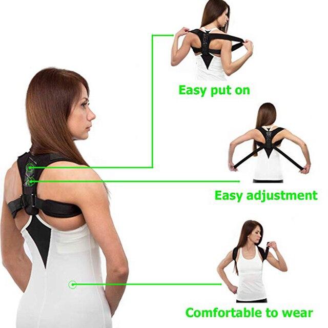Регулируемый поддерживающий пояс для спины Корректор осанки