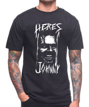 Here'S Johnny T Shirt The Shining Horror Creepy Cult Film Movie 80'S