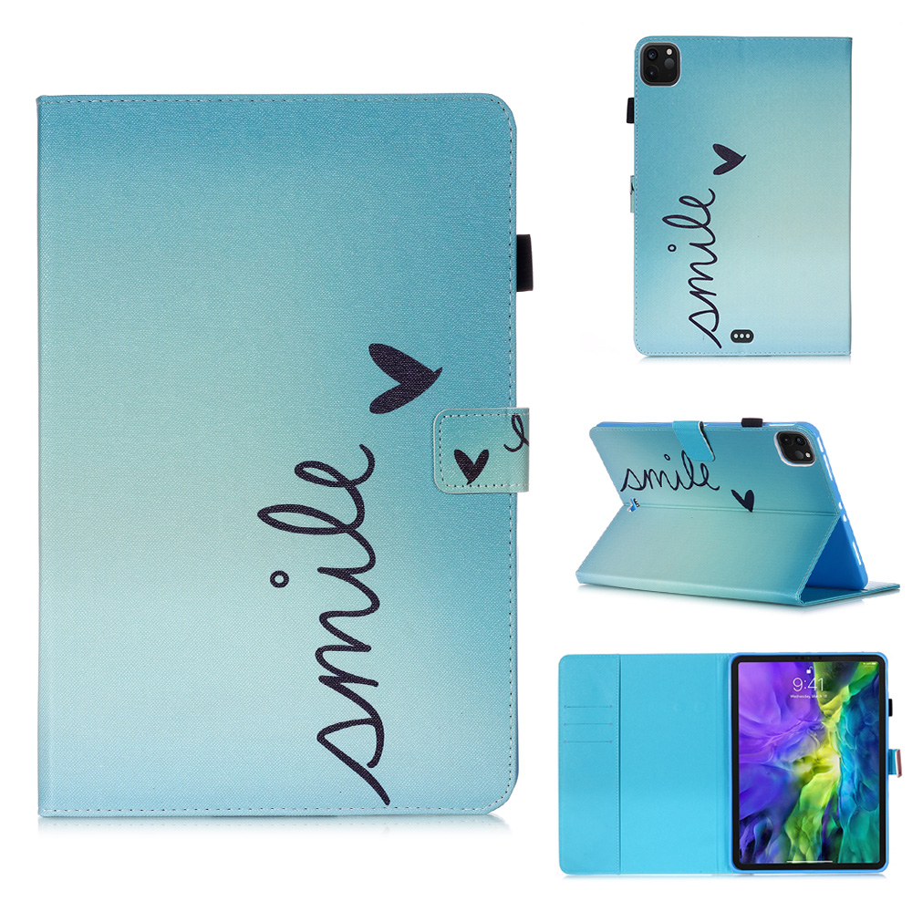 Tablet iPad Flowers Owl Cover Tablet For 11 Stand Case Wallet 2020 Coque Funda For Pro