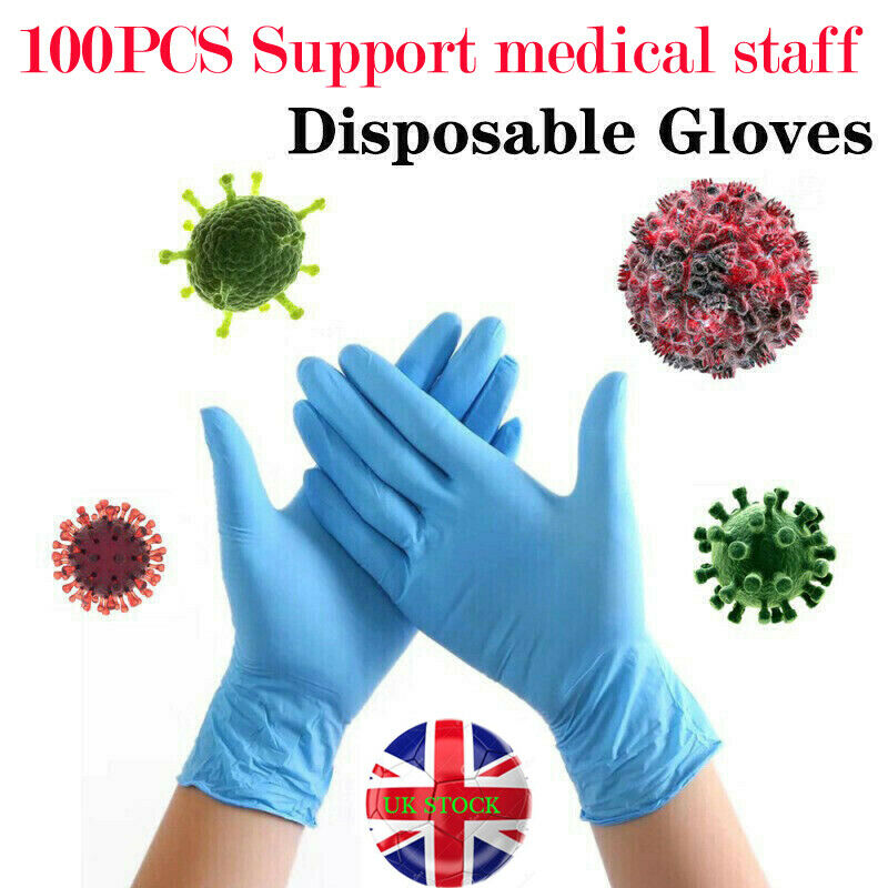 100PCS Disposable Medical Gloves Protective Gloves Surgical Glove Powder Free Latex Gloves