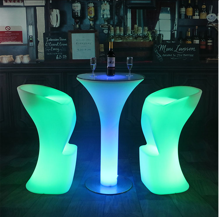 Luminous Bar Chair Led Bar Nightclub Furniture Led Furniture Luminous Furniture Rotomolding Shell Fashion Bar Stool  Bar Chair