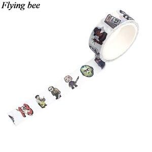 Flyingbee 4 шт./компл. лента с рисунками фильма ужасов убийца клейкая лента ночь перед Рождеством Бумага васи лента стикер набор X0640