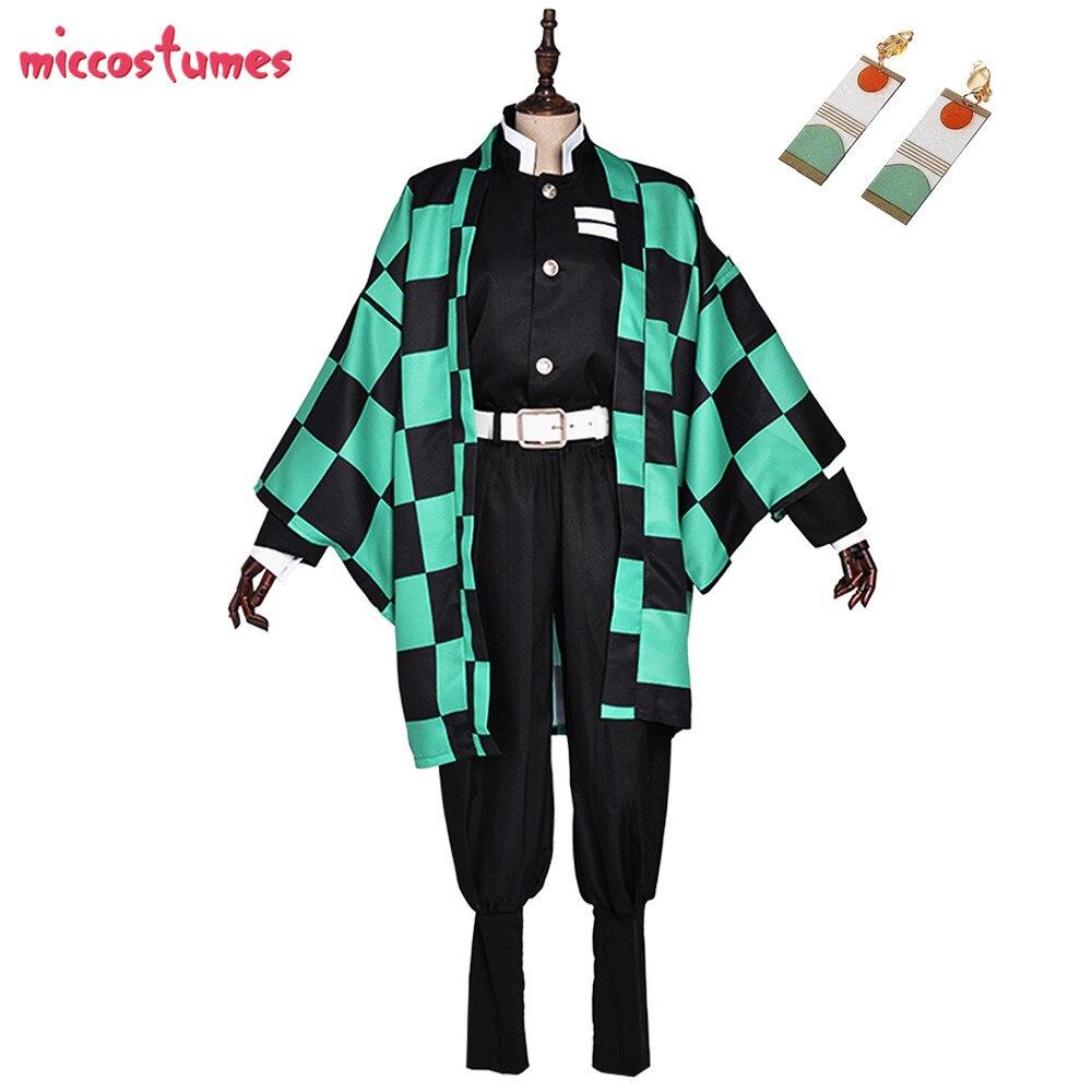 Tanjiro Cosplay Demon Slayer Kimetsu No Yaiba Demon Killing Corps Demon Hunter Uniform Cosplay Costume