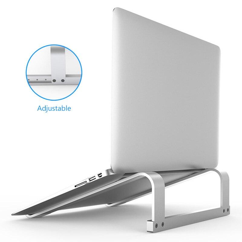 11-17 pouces en alliage d'aluminium support d'ordinateur Portable Portable support de support pour ordinateur Portable Macbook Air Pro anti-dérapant support de refroidissement pour ordinateur