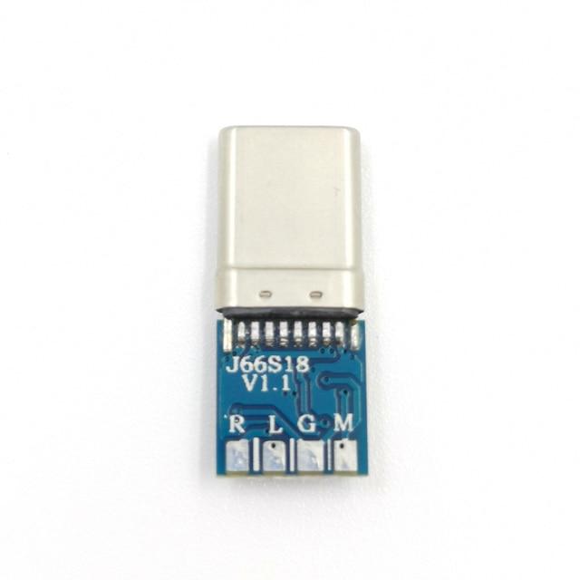 Connecteur de prise Audio numérique de type C | Bricolage, remplacer la prise audio de 3.5mm avec pièces de réparation de type c 2 pièces/lot