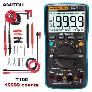 AMITOU T106 Digital Multimeter 19999 zählt Professionelle Multimetro True RMS Kondensator Kontinuität Tester esr meter analogico