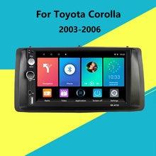 7 zoll 2 Din Auto Radio Multimedia Player Kopf Einheit mit Rahmen Für Toyota Corolla 2003 2004 2005 2006 Android auto Stereo