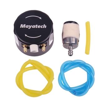 Mayatech CNC אלומיניום סגסוגת אסוך כיסוי בנזין טנק תיבת מכסה שמן תוף כובע מעטפת למעלה מתאם מסנן עבור RC מטוסים כנף קבועה