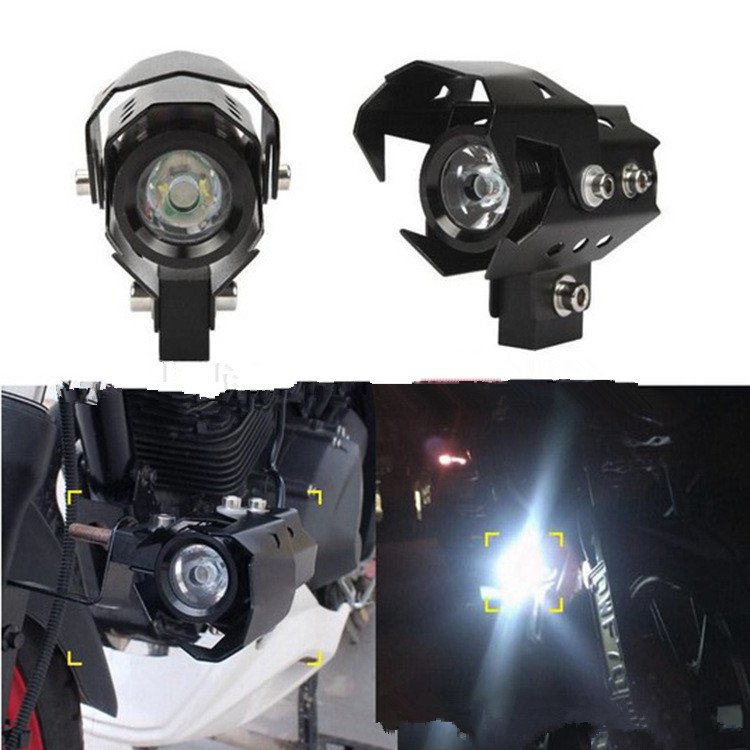 2PCS Motorcycle <font><b>Headlight</b></font> <font><b>LED</b></font> Fog Lamp Beam Head Light Spotlight for Kawasaki <font><b>NINJA</b></font> <font><b>300</b></font> 250R ZX636R ZX6RR 400R CONCOURS image