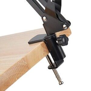 Image 5 - NB 35 Microfono Scissor Braccio Del Supporto di e Morsetto Da Tavolo & NW Filtro Parabrezza Shield & Metallo Kit di Montaggio