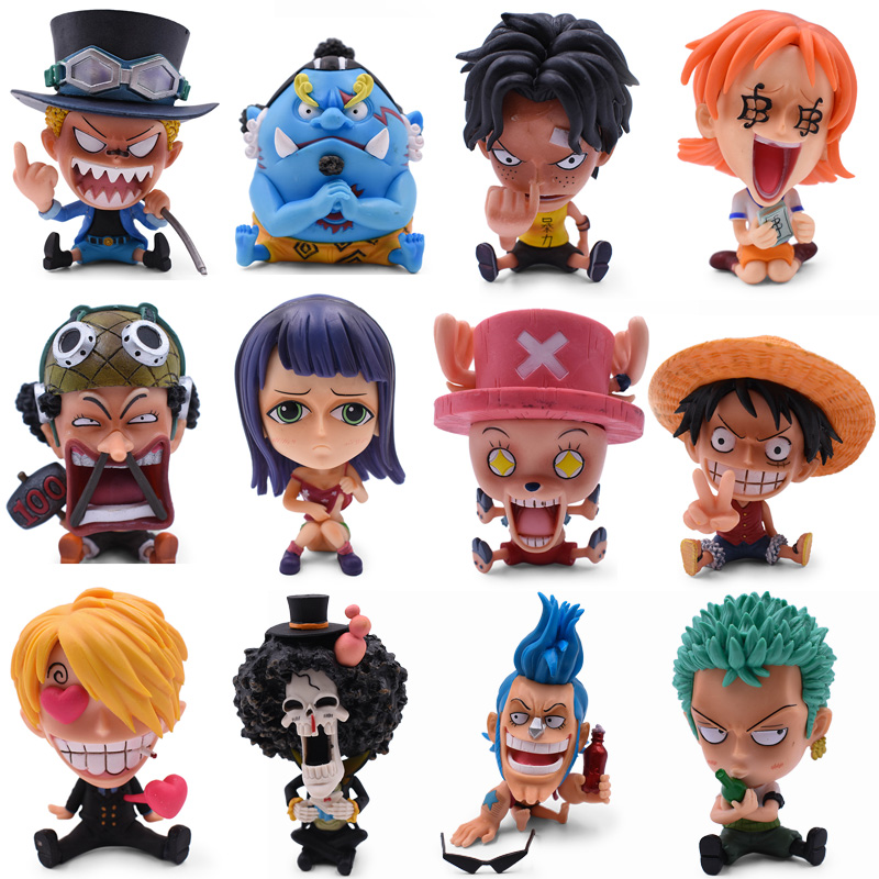 12 Styles Anime <font><b>One</b></font> <font><b>Piece</b></font> GK Luffy <font><b>Sanji</b></font> Nami Zoro Chopper Frank Robin PVC Action Figure Collectible Model Christmas Gift Toy image