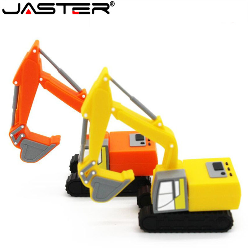JASTER Truck Model Usb Flash Drive Pen Drive Excavator Special Car Pendrive 8gb 16gb 32gb 64gb Memory Stick Real Capacity