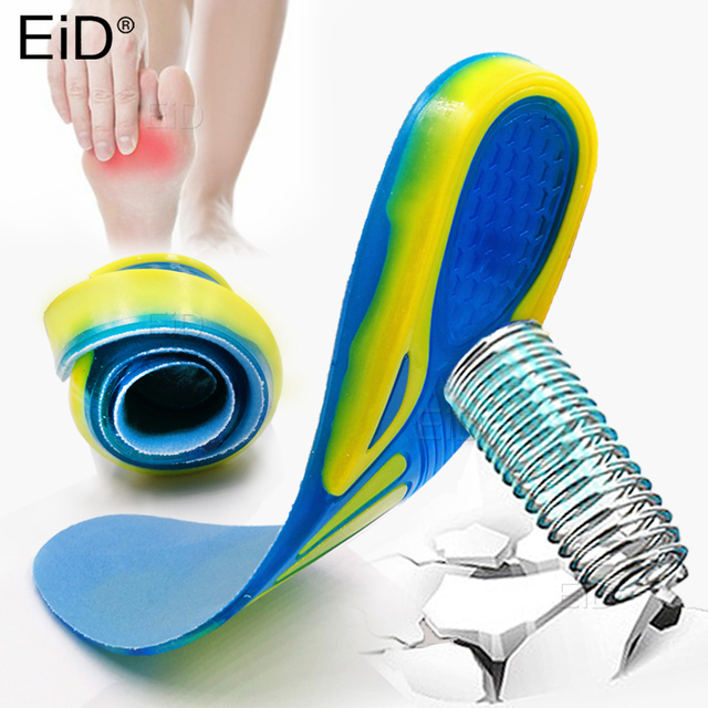 EiD Silicon Gel Insoles for feet Plantar Fasciitis Heel Spur Running Sport Insoles Shock Absorption Pads arch orthopedic insole