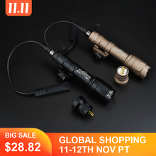 Linterna táctica Airsoft surafir M600 M600C, luz de explorador de Armas, LED, 340 lúmenes, Softair, para caza al aire libre, Rifle, arma