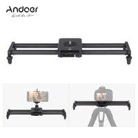 Photography Andoer 15inch Stabilizer Carbon Fiber Camera Video Track Slider+Mini Ballhead Phone Clamp for DSLR Camera Camcorder