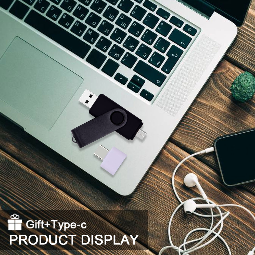 High Speed Pendrives OTG USB 2.0 PC&Smartphone Flash Drive 8GB 16GB 32GB 64GB Metal Customize LOGO Memory Stick(10pcs Free Logo) 5