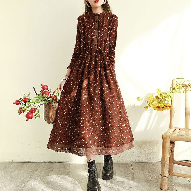 comfortable. two layer polka dot dress 1