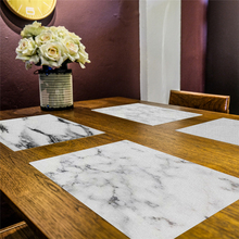 Creative Marble Pattern Placemat Pad Dining Table Mat Heat Insulation Non Slip Placemats Bowl Coaster Desktop Kitchen Decoration 2019 pu leather placemat oil water resistant heat insulation non slip table mat dish bowl holder pad coaster for kitchen table