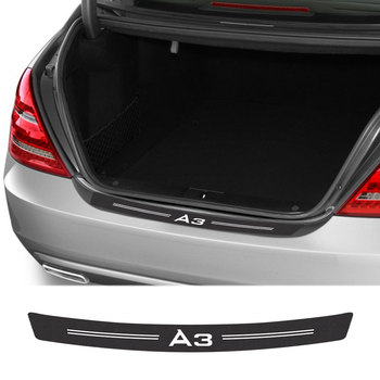 Car Stickers Car Accessories Carbon Fiber Rear Bumper Guard Trunk Decal for Audi A3 8P S3 8V 8L Sportback E-Tron Limousine image