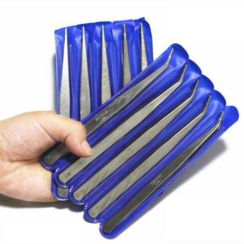 5 sztuk elektronika przemysłowe pincety antystatyczne podkręcone proste końcówki ze pincetą elektronika naprawa narzędzie narzędzie do napraw ręcznych tanie i dobre opinie KISDE CN (pochodzenie) STAINLESS STEEL