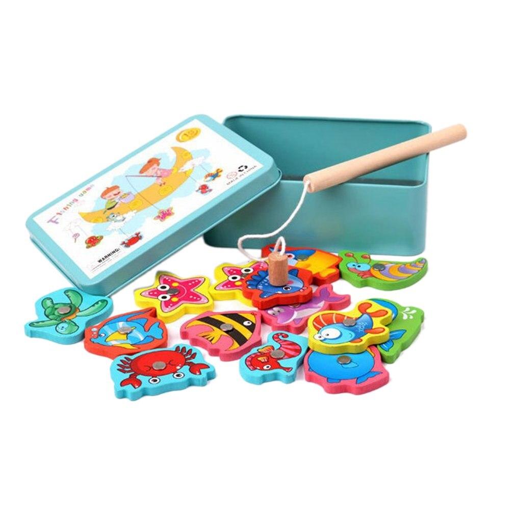 Электрический Железный коробочный детский Магнитный Рыболовный набор игрушек с музыкой и светом Детская ванна игрушка игра в рыбалку дети ...
