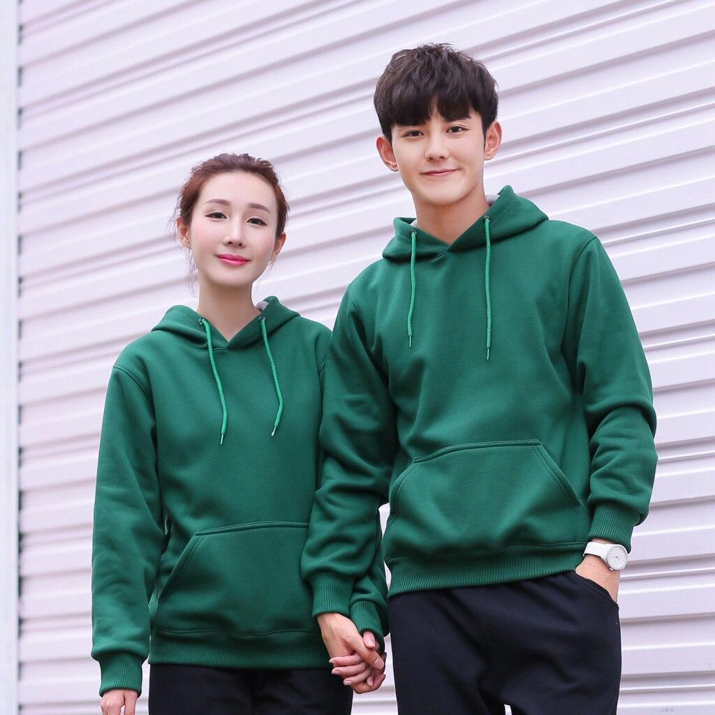 Women Dress Hoodie Winter Velvet Sweatshirt Pullover Outdoor Sportswear Fashion Casual Couple Wear With Pocket 2019 Autumn New