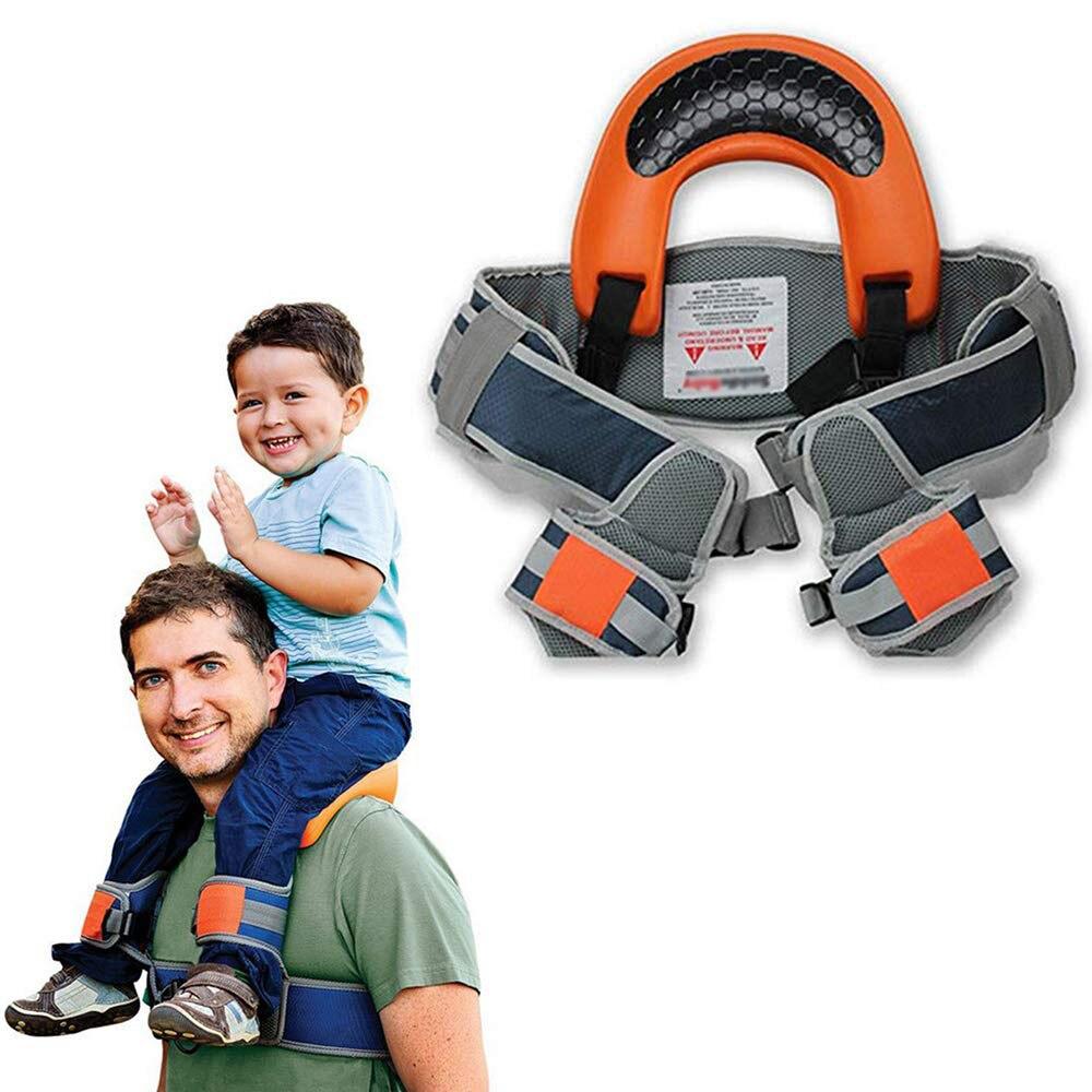 แฮนด์ฟรีไหล่ Carrier ที่นั่งไนลอนสายรัดเด็ก Rider Travel ไหล่ Carrier เด็กที่ปลอดภัยที่สุด Kangaroo Wrap SLING Suspenders