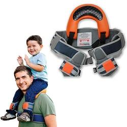 Soporte de hombro manos libres asiento de Nylon correa de niño Rider viaje-portador de hombro bebé más seguro canguro envolver tirantes