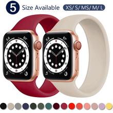 Pasek do zegarka Apple Watch 5 pasek 40mm 44mm iWatch serie 4 5 6 SE elastyczny pas silikonowy Solo bransoletka pętli pasek do Apple watch 42mm 38mm cheap ProBefit CN (pochodzenie) Inne Od zegarków RUBBER Nowy z metkami For apple watch 200001557 200001557