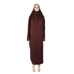 Image 4 - สตรีมุสลิมสวดมนต์ยาว Abaya ฝาครอบ Hijab Overhead Kaftan Jilabb อิสลามแขนค้างคาว Niqab Jilbab Robe ดูไบ