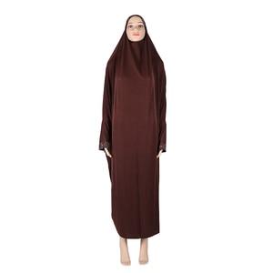 Image 4 - Muslim Women Modest Prayer Long Dress Abaya Full Cover Hijab Overhead Kaftan Jilabb Islamic Bat Sleeve Niqab Jilbab Robe Dubai