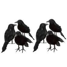 3PCS Halloween Crow Fake Bird Toys Ravens Prop Fancy Dress Decoration Props