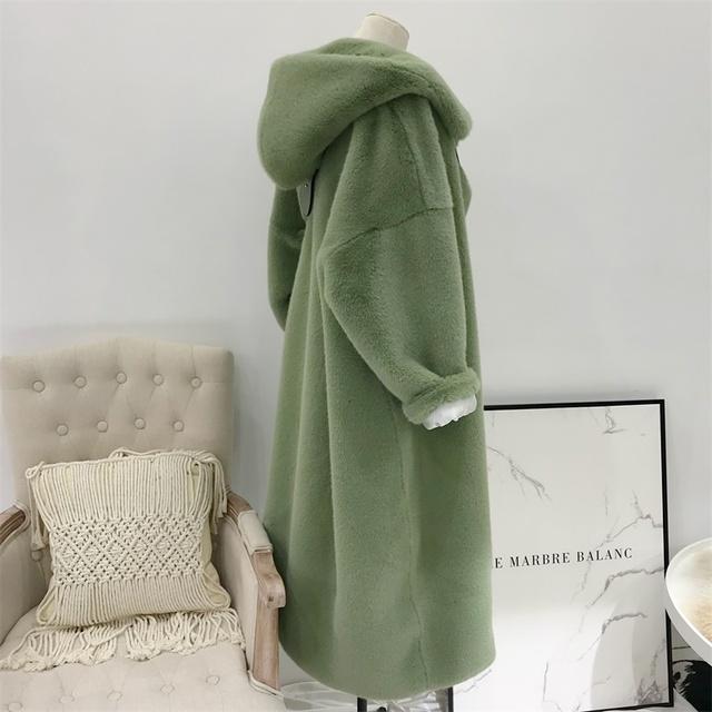 2019 Autumn Winter Faux Fur Coat Women Long Oversize Luxury Casual Loose Hoddies Mane Fur Jacket Female Thick Warm Plush Outwear