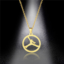 Accessories Stainless Steel Necklace Hollow Female Gymnast Clavicle Chain Titanium Steel Jewelry Necklace недорого