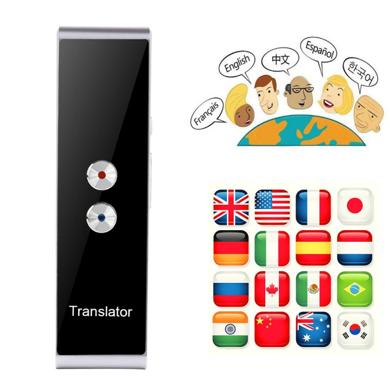 T8 Smart Voice Speech Translator Bluetooth Two-Way Real Time 70 Multi-Language Translation For Learning Travelling Business Meet