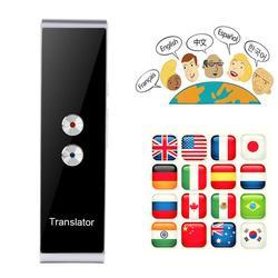 T8 Smart Voice Speech Translator Bluetooth dwukierunkowy w czasie rzeczywistym 70 tłumaczenie językowe do nauki podróży biznesowych w Translatory od Elektronika użytkowa na