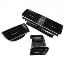 SCJYRXS Chrome Piano Black Dashboard Car Center Console Air Condition Vents For Passat B6 B7 CC 3AD819728A 3AD819701A 3AD819702A