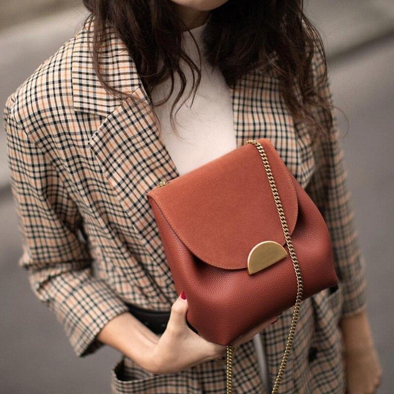 Luxury Designer Bucket Bags New 2020 Small Chain Handbags Women Leather Shoulder Bag Lady France Famous Brand Cross Body Bag