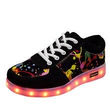 BOUSSAC/1 Цвет; светящаяся обувь для влюбленных; обувь с подсветкой для мальчиков и девочек; Светящиеся кроссовки унисекс; usb светильник; Светящиеся кроссовки для детей