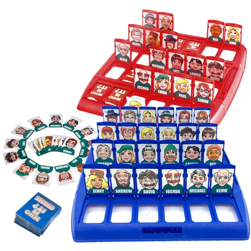 Who Is It Classic Board Game Funny Family Guessing Games Kids Children Toy Gift Y4UD